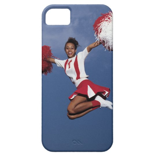 Cheerleader in mid-air iPhone SE/5/5s case