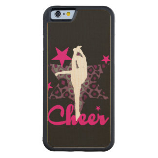 Cheerleader in pink carved maple iPhone 6 bumper case