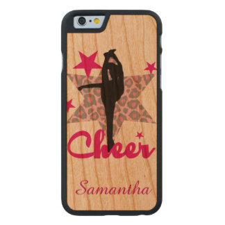 Cheerleader in pink in Cherry wood Iphone 6 case