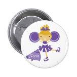 Cheerleader in Purple 2 Inch Round Button
