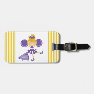 Cheerleader in Purple Tags For Bags