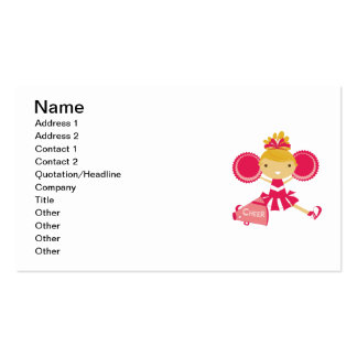 Cheerleader in Red Business Card