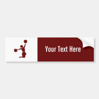 Cheerleader In Silhouette Bumpersticker Bumper Sticker