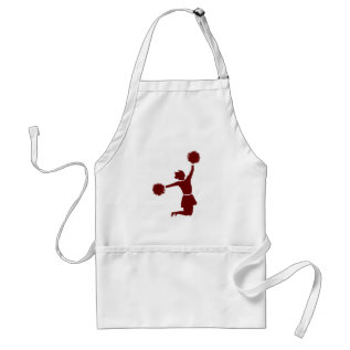 Cheerleader In Silhouette Cook Chefs Apron at Zazzle