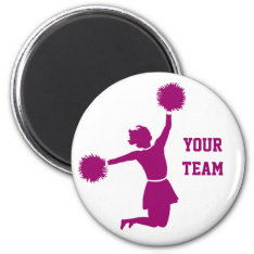 Cheerleader In Silhouette Fridge Magnet at Zazzle