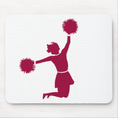 Cheerleader In Silhouette Mousepad at Zazzle