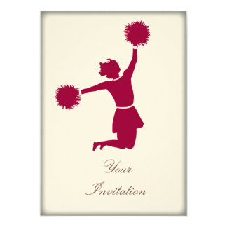Cheerleader In Silhouette Party Event Invitation