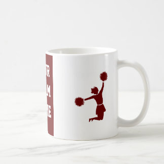 Cheerleader In Silhouette With Poms Mug