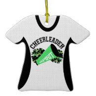 Cheerleader Jersey Photo Keepsake Christmas Tree Ornament