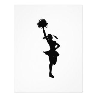 Cheerleading letterhead custom cheerleading letterhead templates zazzle for Cheerleader template