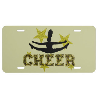 Cheerleader License Plate