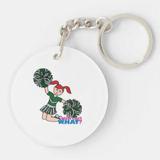Cheerleader - Light/Red Double-Sided Round Acrylic Keychain