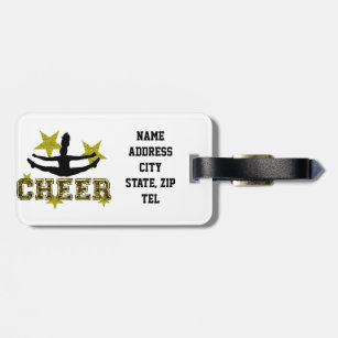Cheerleader Luggage   Bag Tags  ceacd895bbfdc