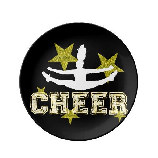 Cheerleader Porcelain Plate
