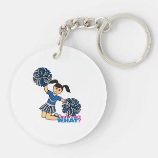 Cheerleader Medium Double-Sided Round Acrylic Keychain