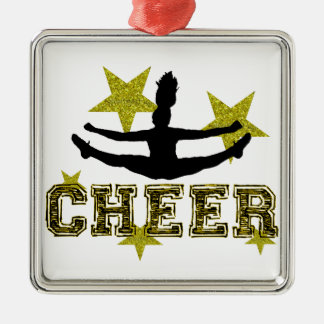 Cheerleader Metal Ornament