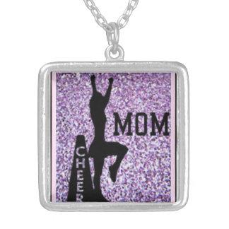 CHEERLEADER MOM, cheer pendants...original art Silver Plated Necklace