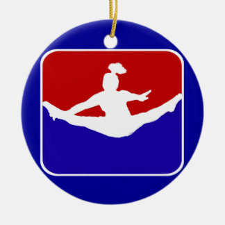 Cheerleader Double-Sided Ceramic Round Christmas Ornament