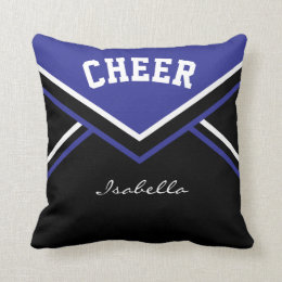 Cheerleader Outfit in Dark Blue Throw Pillow
