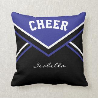Cheerleader Outfit in Dark Blue Throw Pillow