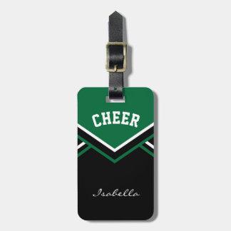 Cheerleader Outfit in Dark Green Bag Tag