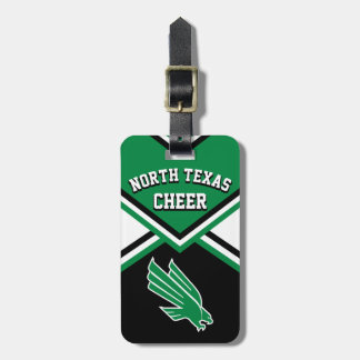 Cheerleader Outfit in Dark Green, Black & White #3 Bag Tag