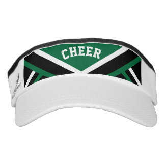 Cheerleader Outfit in Dark Green Visor