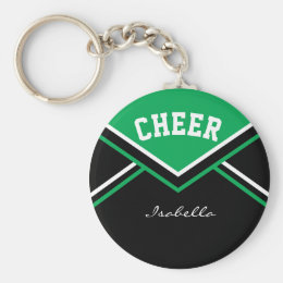 Cheerleader Outfit in Green Keychain