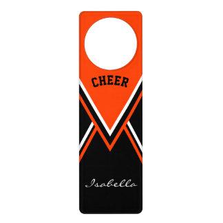Cheerleader Outfit in Orange Door Hanger