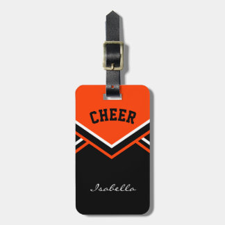 Cheerleader Outfit in Orange Luggage Tag