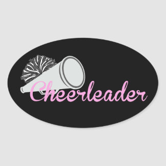 Cheerleader Oval Sticker