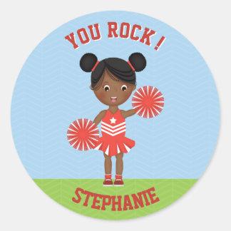 Cheerleader Party Classic Round Sticker