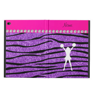 Cheerleader pastel purple glitter zebra stripes powis iPad air 2 case