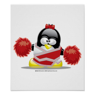 Cheerleader Penguin Poster