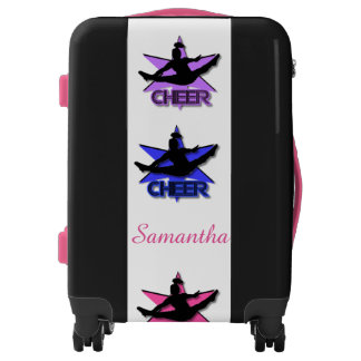 Cheerleader personalized luggage