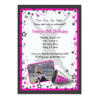 "Cheerleader Photo Invitation 5"" X 7"" Invitation Card"