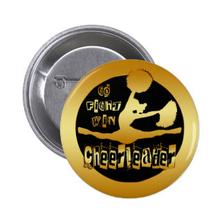 CHEERLEADER PINBACK BUTTON