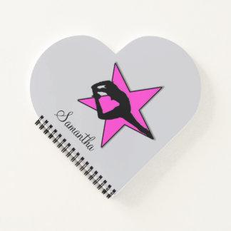 Cheerleader Pink flyer heart notebook