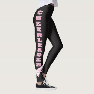 Cheerleader Pink Typography Letters Leggings