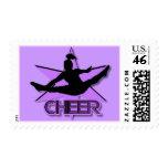 Cheerleader Postage Stamp