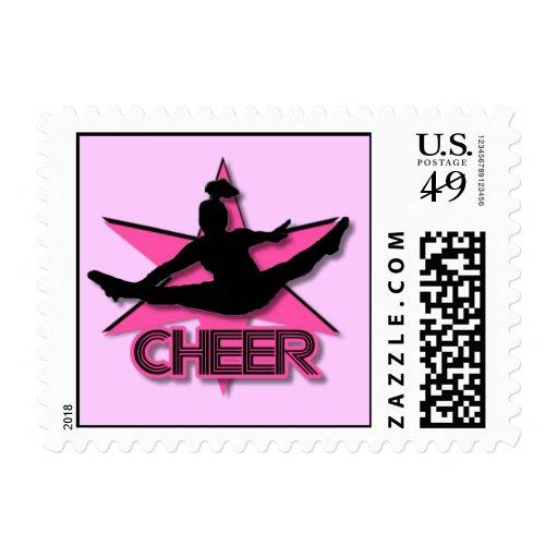 Cheerleader Postage Stamps