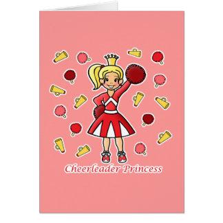 Cheerleader Princess Card
