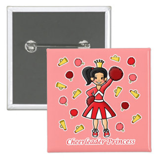 Cheerleader Princess Pinback Button