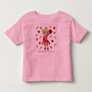 Cheerleader Princess Toddler T-shirt