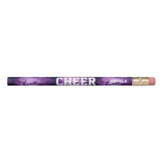 Cheerleader purple galaxy personalized pencil