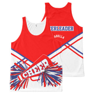 Cheerleader - Red, White and Blue All-Over-Print Tank Top