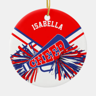 Cheerleader - Red, White and Blue Ceramic Ornament