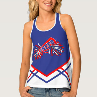 Cheerleader - Red, White & Blue Tank Top
