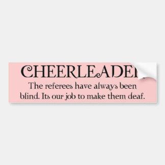 Cheerleader (refs) bumper sticker