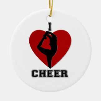 Cheerleader round ornament
